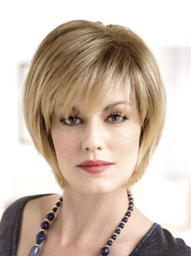 Chin Length Synthetic 8 Inches Blonde Bob The Best Monofilament Wigs