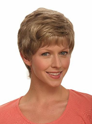 Convenient Wavy Capless Short Wigs Brown Hair