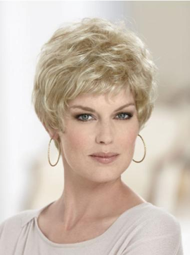 Gorgeous Wavy Capless Short Blonde Hair Wig