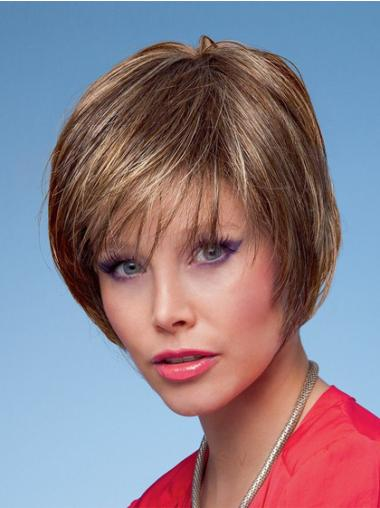 Suitable Straight Capless Short Wigs On Brown