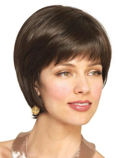 Straight Capless Bobs Short Wig Human Hair