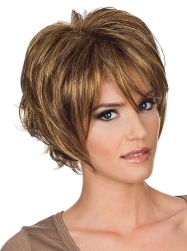 Beautiful Chin Length Wavy Layered Medium Length Wigs That Look Natural