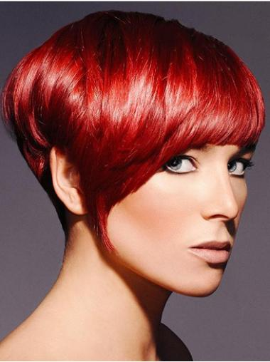 Flexibility Straight Capless Short Haired Wigs