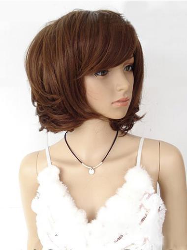 Bobs Straight Capless Medium Auburn Wig