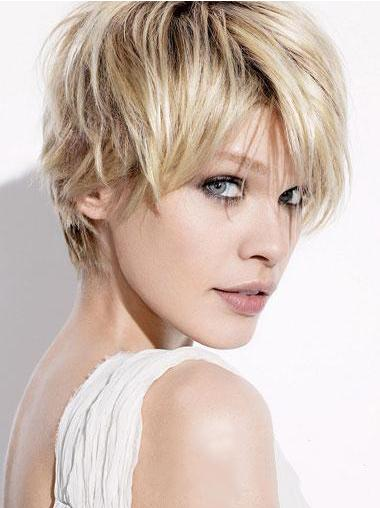 Straight Capless Boycuts Affordable Human Hair Short Wigs