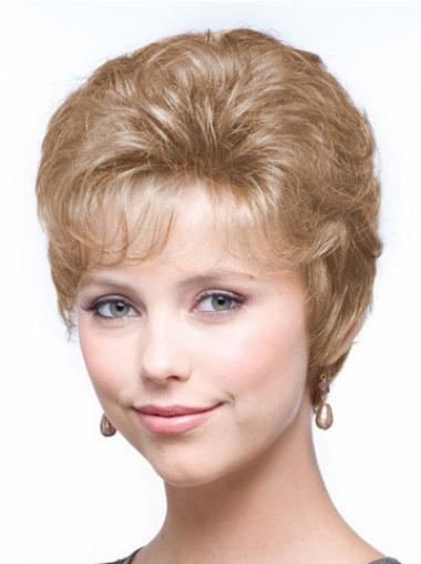 Cropped Exquisite Wavy Classic Synthetic Blond Wigs