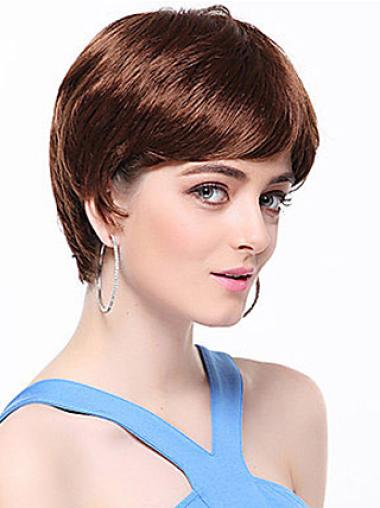 Ideal Synthetic Straight Auburn Short Wig