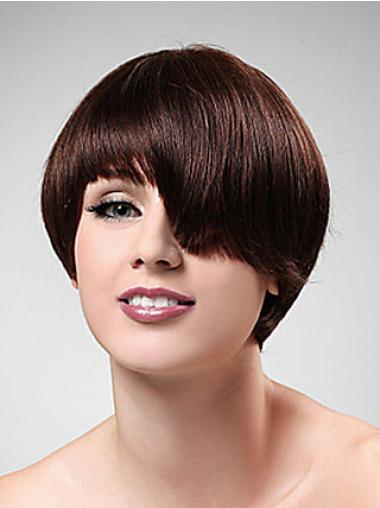 Style Synthetic Straight Auburn Short Wig