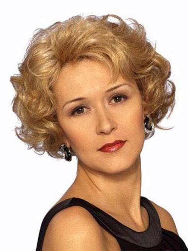 Synthetic Blonde Classic Short Hair Lace Front Wigs