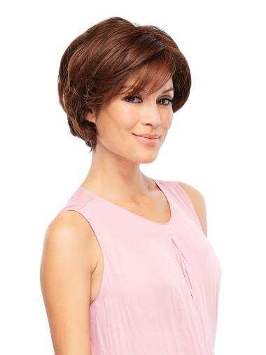 Perfect Wavy Auburn Short Lace Front Synthetic Wigs