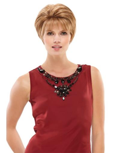 Soft Short Straight Boycuts Straight Blonde Human Hair Wig