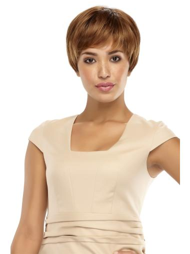 Straight Short Brown Gorgeous Synthetic Lace Front Wigs