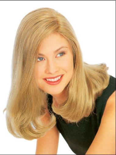 Comfortable Shoulder Length Synthetic Blonde Medium Wig