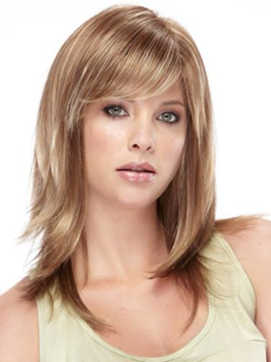 Synthetic Straight Capless Exquisite Medium Brown Wig