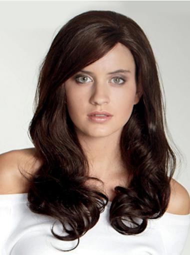 With Bangs Lace Front Synthetic Good Wavy Long Hair Wig