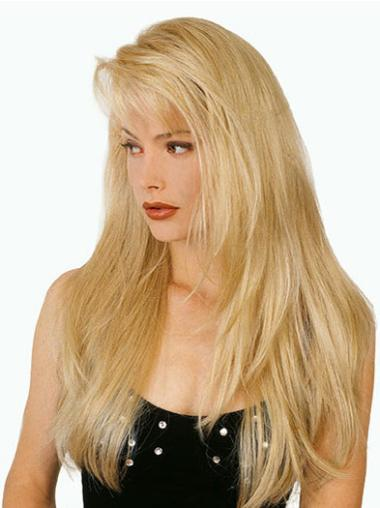 With Bangs Blonde Affordable Straight Long Hair Wig