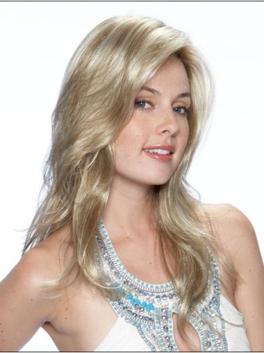 Lace Front Layered Wavy Synthetic Designed Wavy Long Hair Wig