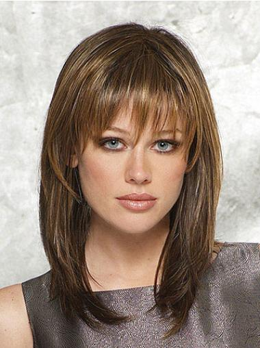Synthetic Straight Capless High Quality Medium Brown Wig