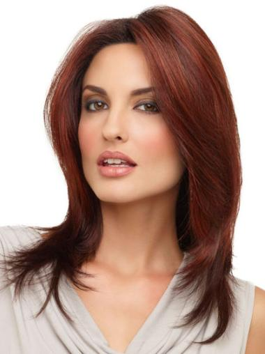 Without Bangs Straight Shoulder Length A Natural Lace Front Wig