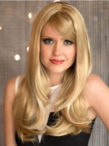 With Bangs Blonde Ideal Very Long Haired Wigs