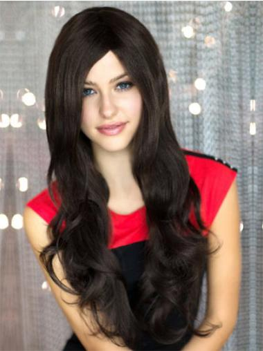 Layered Black Convenient Very Long Haired Wigs