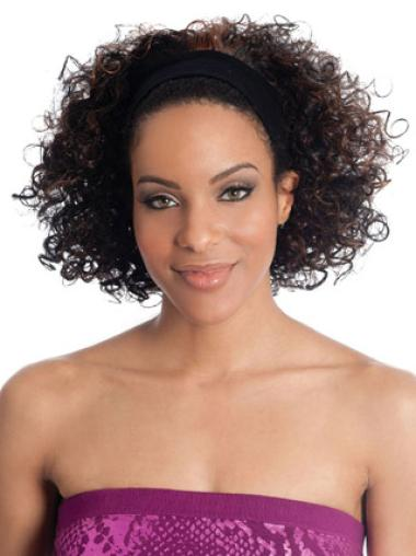 Chin Length Capless Good Brazilian Human Hair Half Wigs