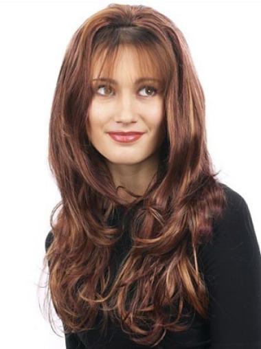 Long Wavy Capless Synthetic Cheap Half Wigs