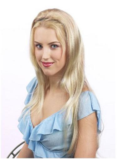 Blonde Straight 22 Inches Synthetic Best Half Wigs