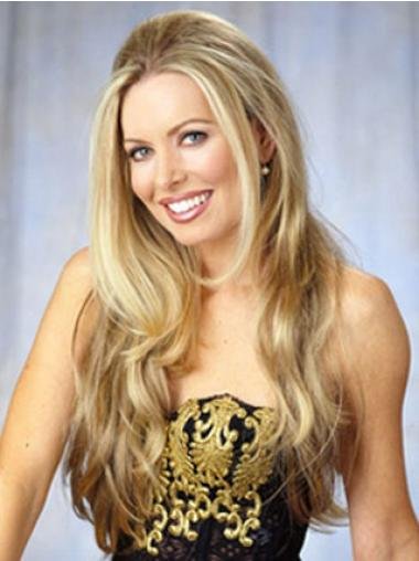 Fabulous Long Blonde Wavy Hair Falls & Half Wigs Styles