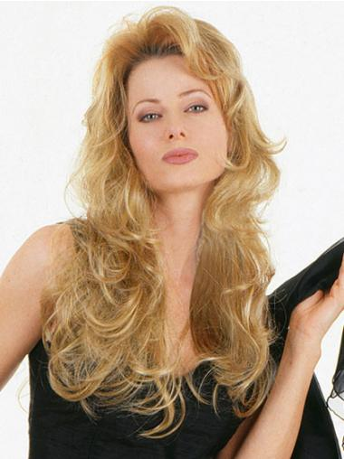 Long Blonde Synthetic Wavy Natural Looking Half Wigs
