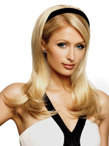 Exquisite Long Capless Straight Blonde Half Wig