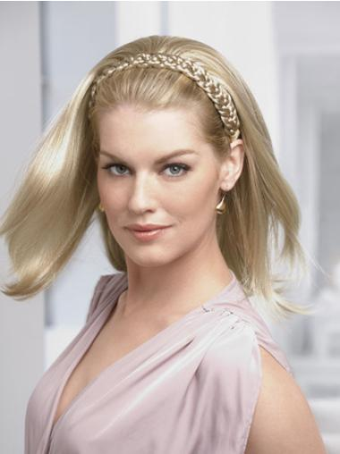 Straight Blonde Shoulder Length Hairstyles With Half Wigs