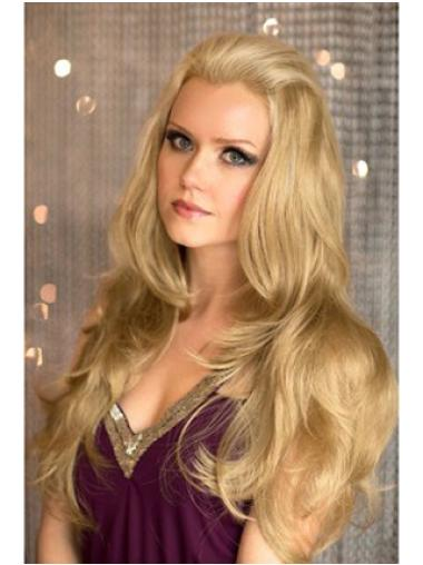 22 Inches Wavy Blonde Long Capless Half Of Wigs