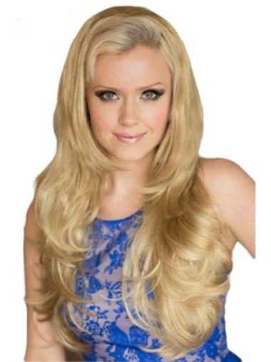 Affordable Synthetic Wavy Hair Half Wig Blonde
