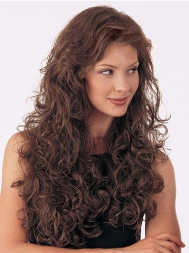 Long Capless Gorgeous Curly Half Wig Human Hair