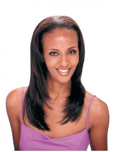 Long Brown Straight Best African American Human Hair Wigs