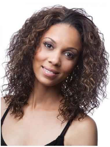 Kinky Brown Stylish Half Wigs Synthetic Hair