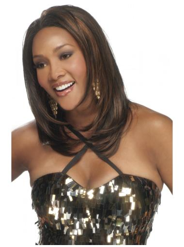 Amazing Straight Brown Lace Front Wig Human Hair Long