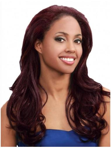 Auburn Straight Natural African American Half Wigs Hair