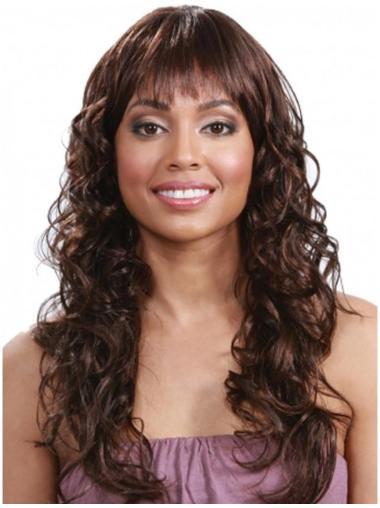 Auburn Capless Indian Remy Hair Long Curls For Black Women