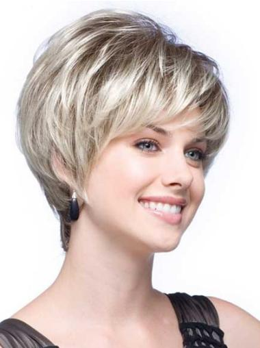 Wavy Short Synthetic High Quality Grey Hair Wigs For Sale