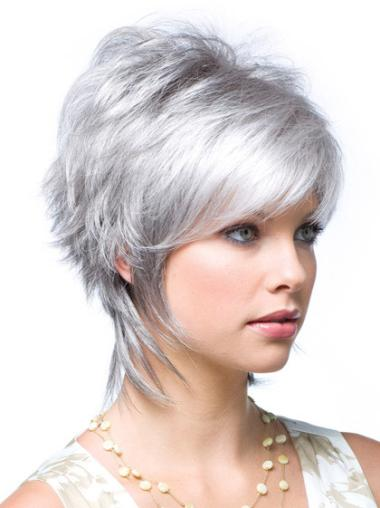 Online Synthetic Wavy Grey Front Lace Wig