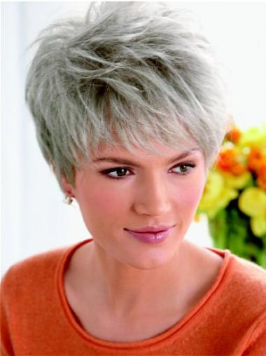 Best Lace Front Straight Ash Grey Colour Wigs