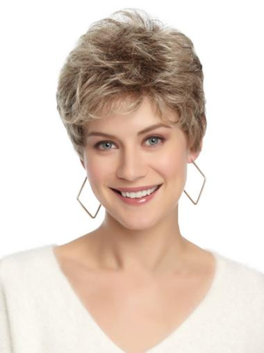 No-Fuss Cropped Wavy Better Synthetic Wig Grey