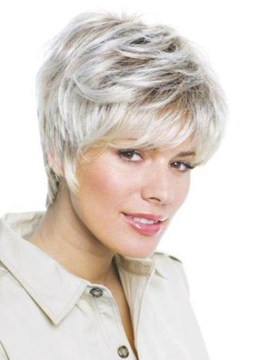 Idea Lace Front Synthetic Grey Short Wavy Hair Wigs