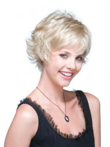 Discount Wavy 6 Inches Synthetic Grey Short Hair Wig