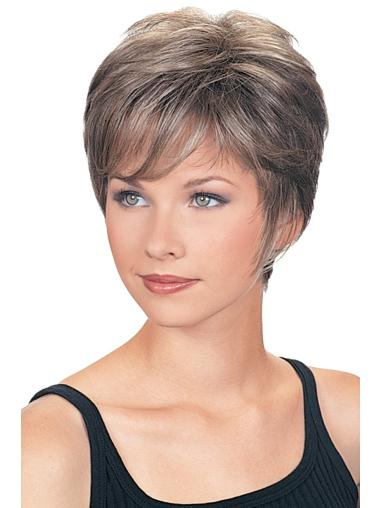 Wavy Capless Synthetic Cute Short Grey Wig