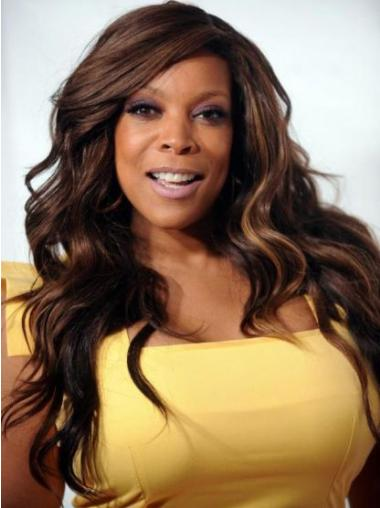 """Brown Wavy 20"""" Wendy Williams Synthetic Wigs That Look Real"""