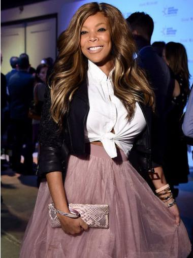 """Capless Wavy 20"""" Affordable Wendy Williams Wigs"""