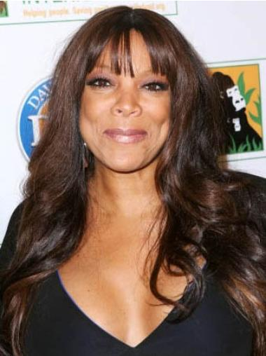 """With Bangs 22"""" Affordable Wendy Williams Real Hair Wigs Full Wig"""